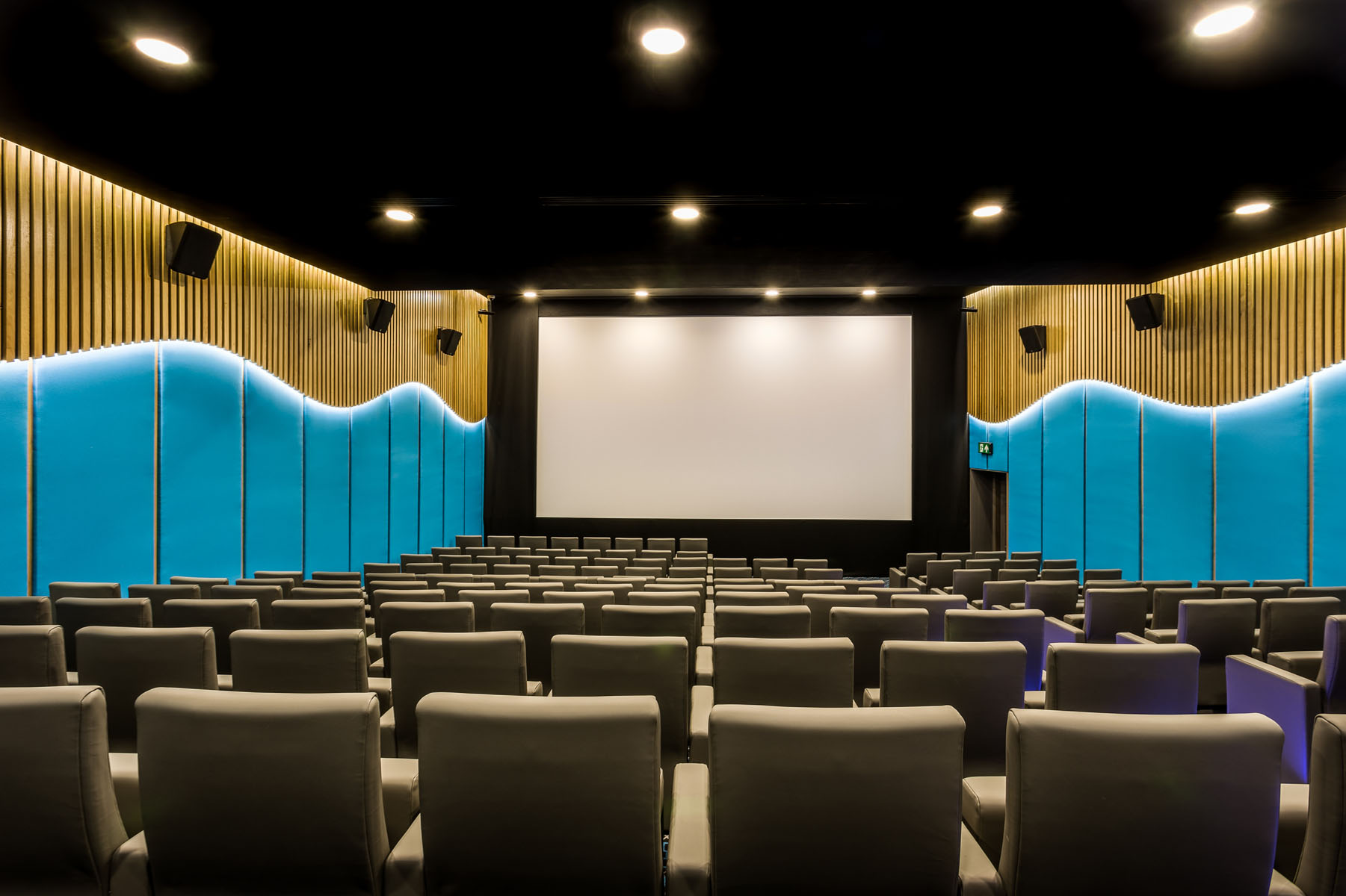 Hotel cinema screen