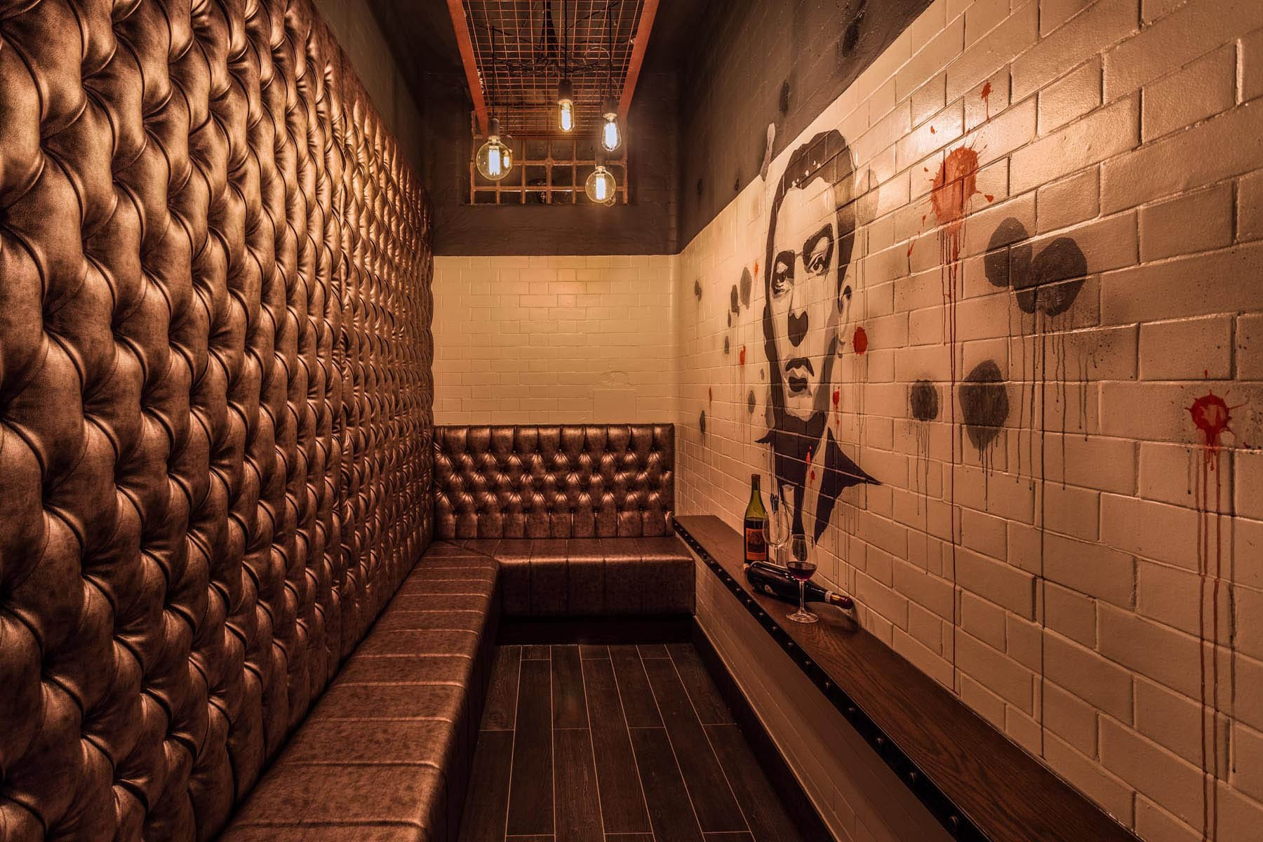 Bar using prison cells