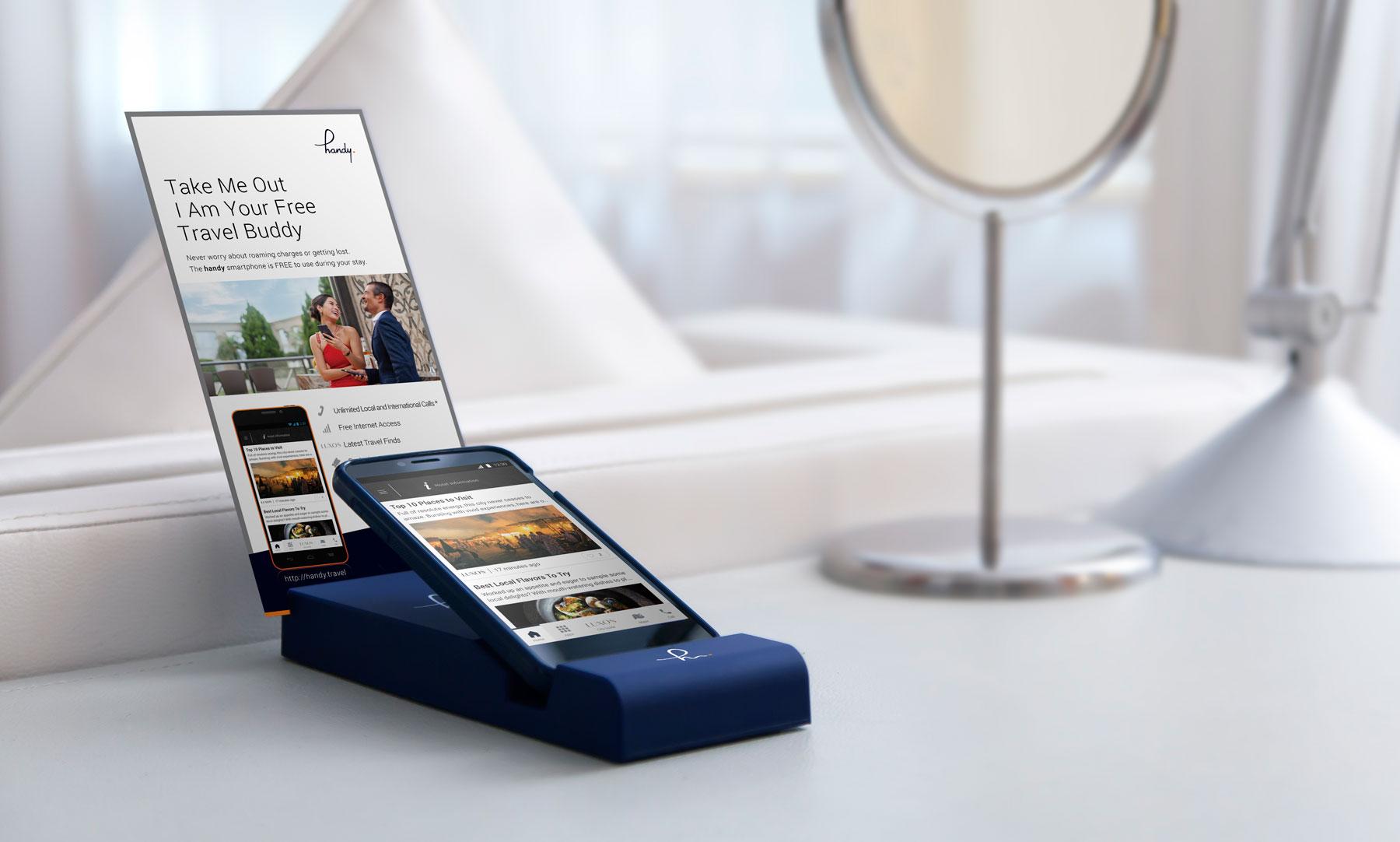Handy in-room travel buddy smartphone