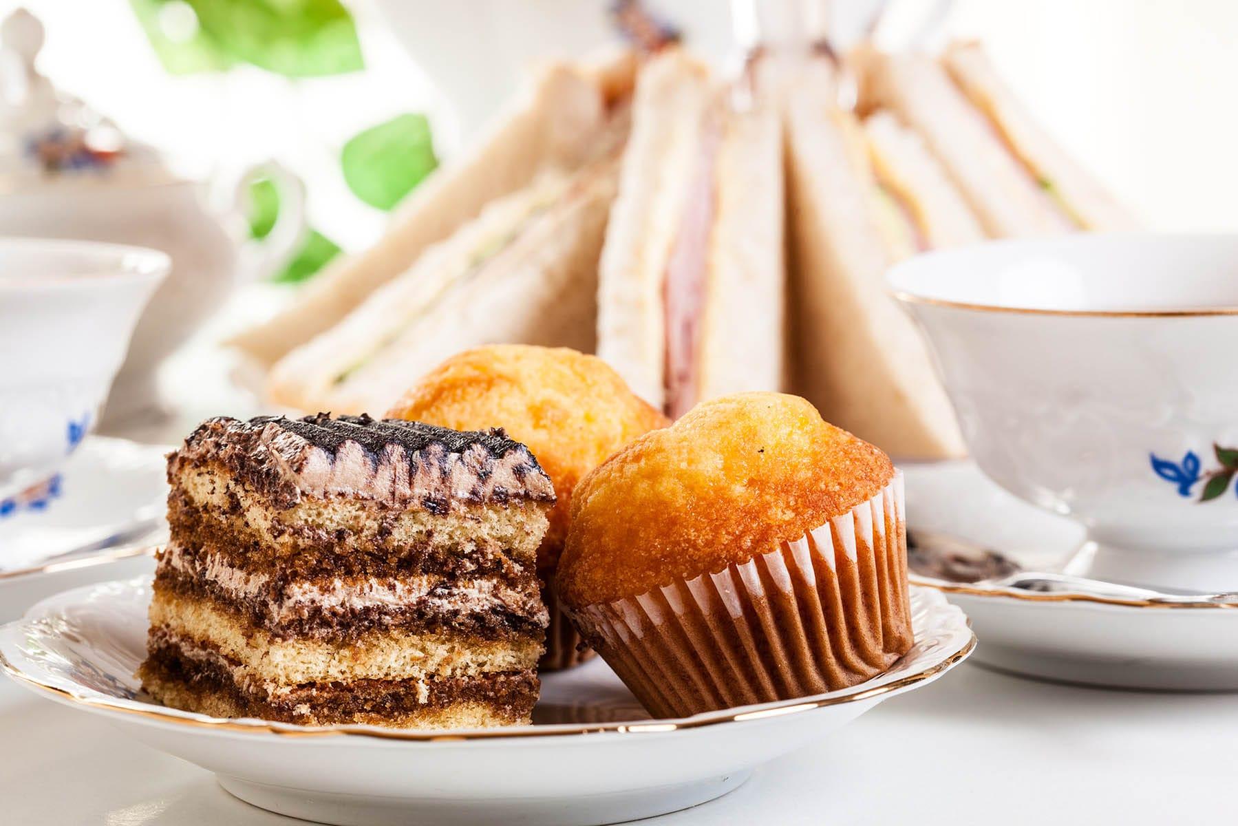 High tea set with dessert afternoon tea set